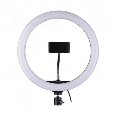Lampa circulara smartphone tip inel, USB, 33 cm, 13 inch, lumina, calda, rece, neutra, studio , vlogging, live,  selfie